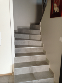 carrelage sur escalier
